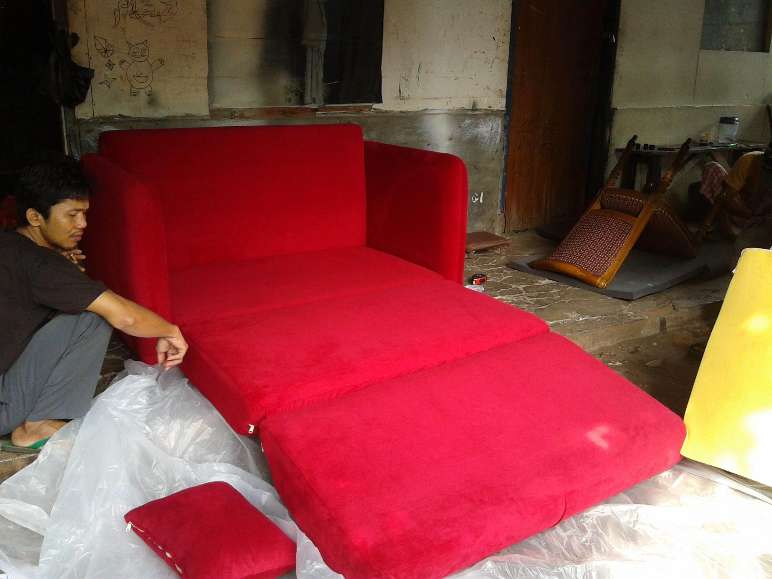 20130614 103316 SOFA BED AMORIST RED FERERRY MR. RIFTIZAS PROJECT (SBRZ0001)