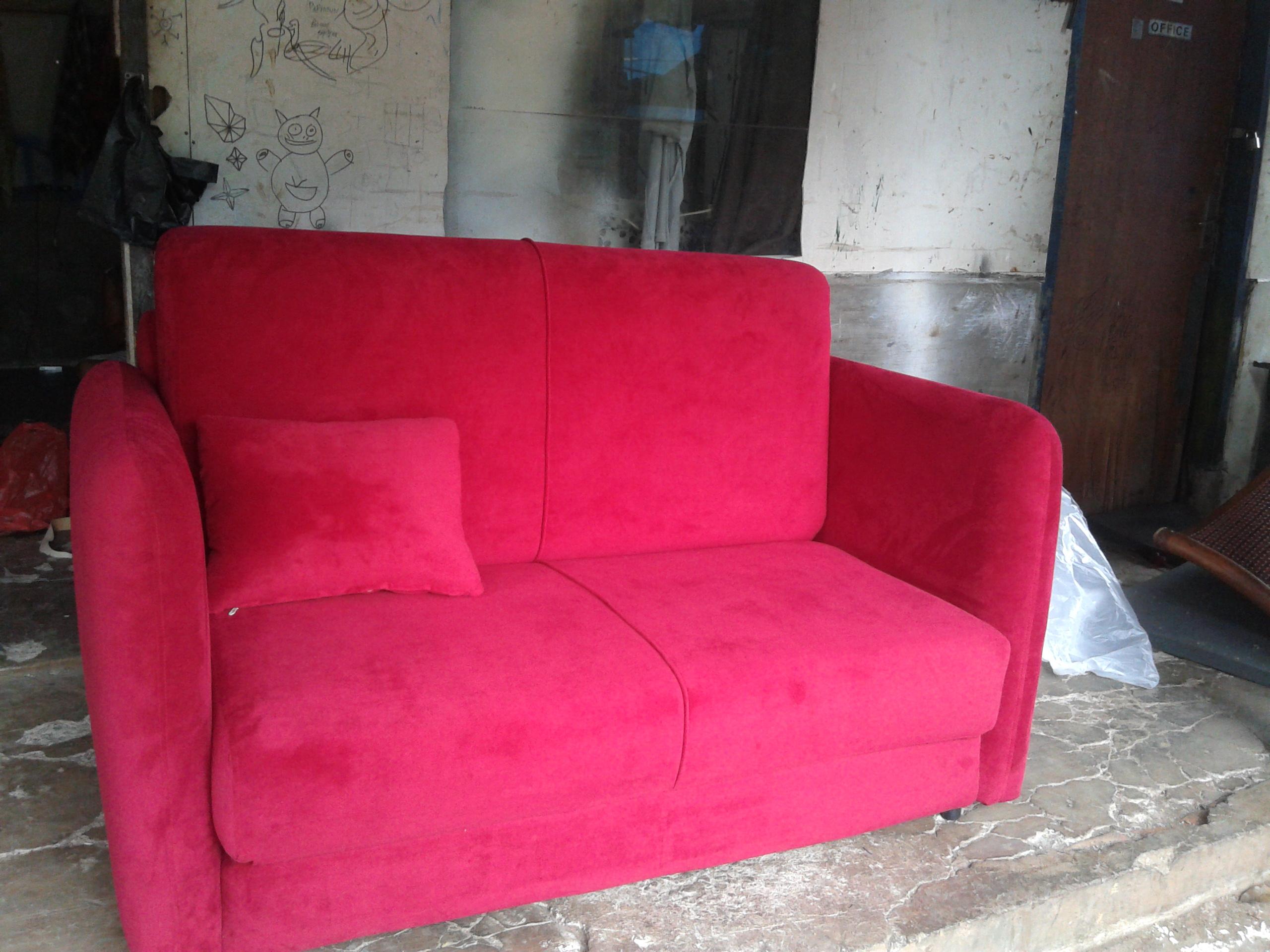 20130614 104204 SOFA BED AMORIST RED FERERRY MR. RIFTIZAS PROJECT (SBRZ0001)