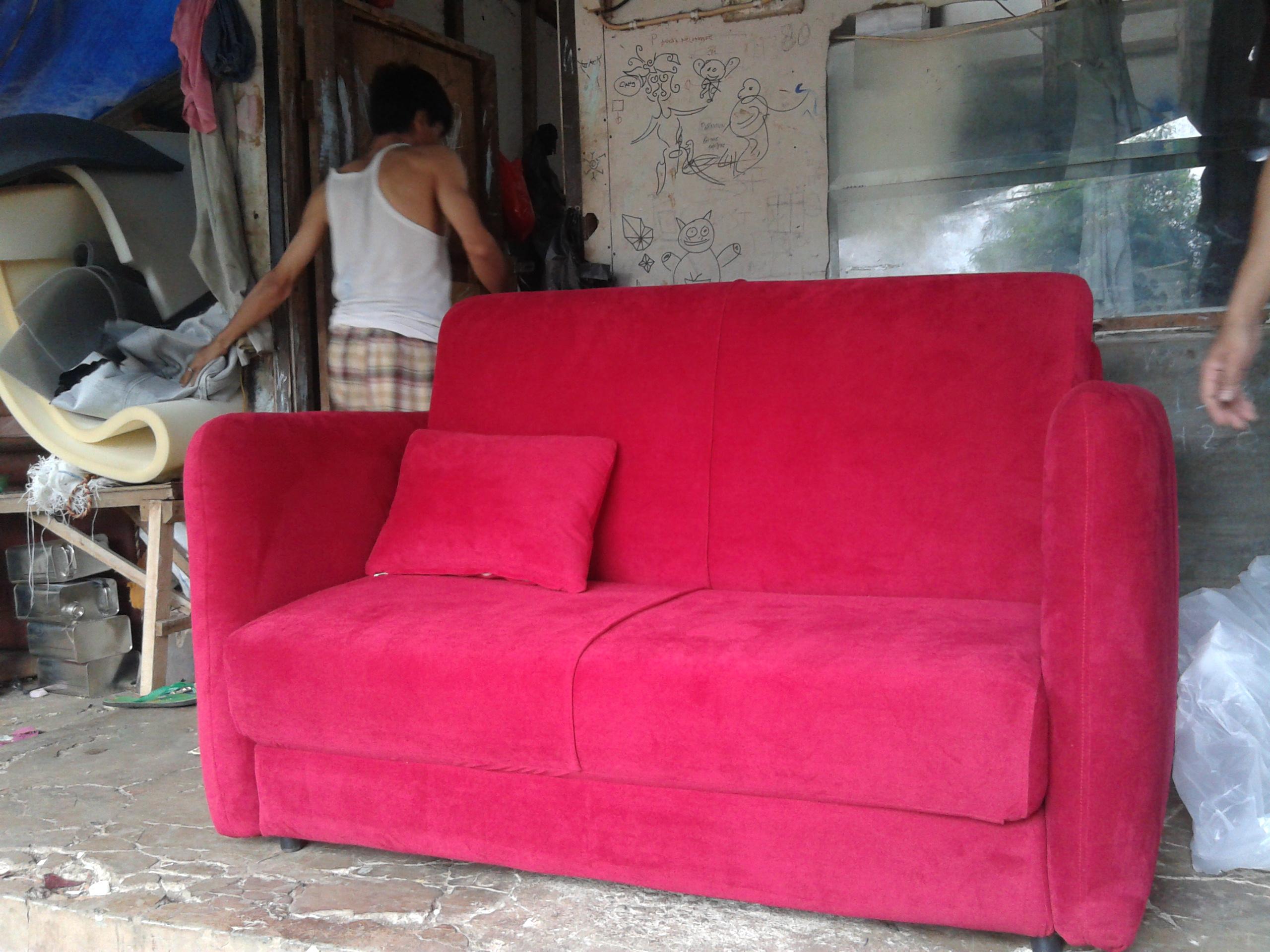 20130614 104213 SOFA BED AMORIST RED FERERRY MR. RIFTIZAS PROJECT (SBRZ0001)