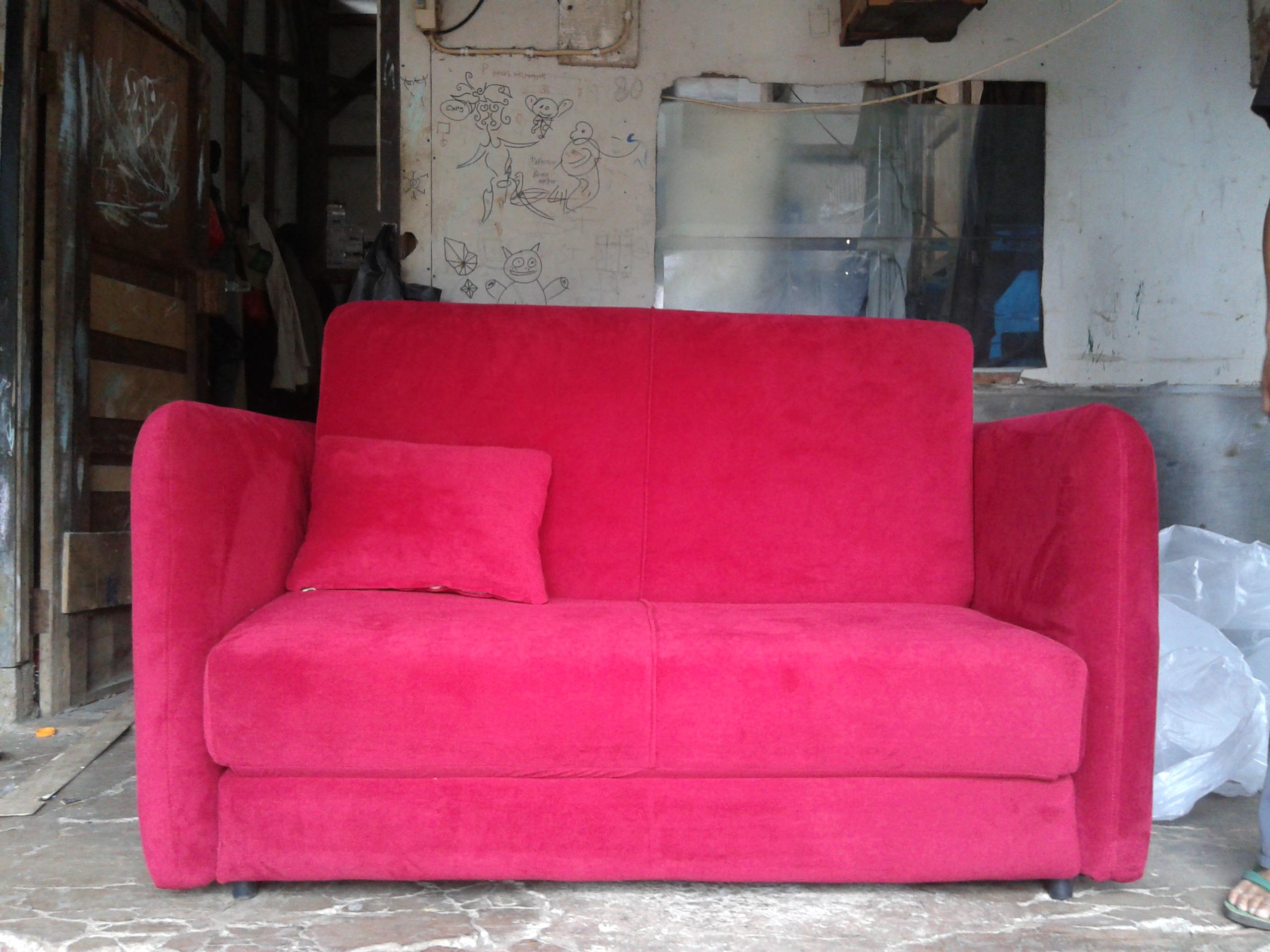 20130614 104225 SOFA BED AMORIST RED FERERRY MR. RIFTIZAS PROJECT (SBRZ0001)