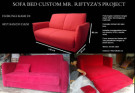SOFA BED AMORIST RED FERERRY MR. RIFTIZA'S PROJECT (SBRZ0001)