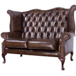 SCF0007 (Genuine Leather) Madras Red Wine 117 QUEEN ANE CHESTERFIELD