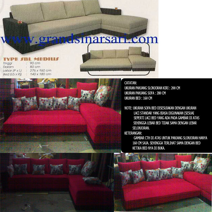 product 135292 SOFA BED L SHAPE MR. DONI PROJECT (SBL0001)