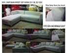 SOFA L SHAPE AMORIST GREY KAKI STEINLESS STEEL MRS YUDHI'S PROJECT (SFLY0001)