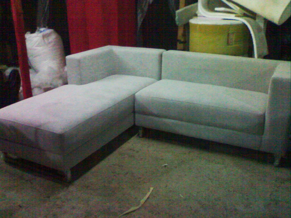 product 166184 1 SOFA L SHAPE AMORIST GREY KAKI STEINLESS STEEL MRS YUDHIS PROJECT (SFLY0001)