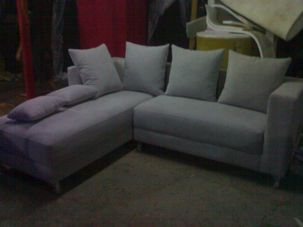 product 166184 8 SOFA L SHAPE AMORIST GREY KAKI STEINLESS STEEL MRS YUDHIS PROJECT (SFLY0001)