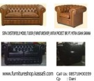 SOFA CHESTERFIELD TUDOR BLACK KULIT ASLI PT MUS'S PROJECT (SCFMUS0001)