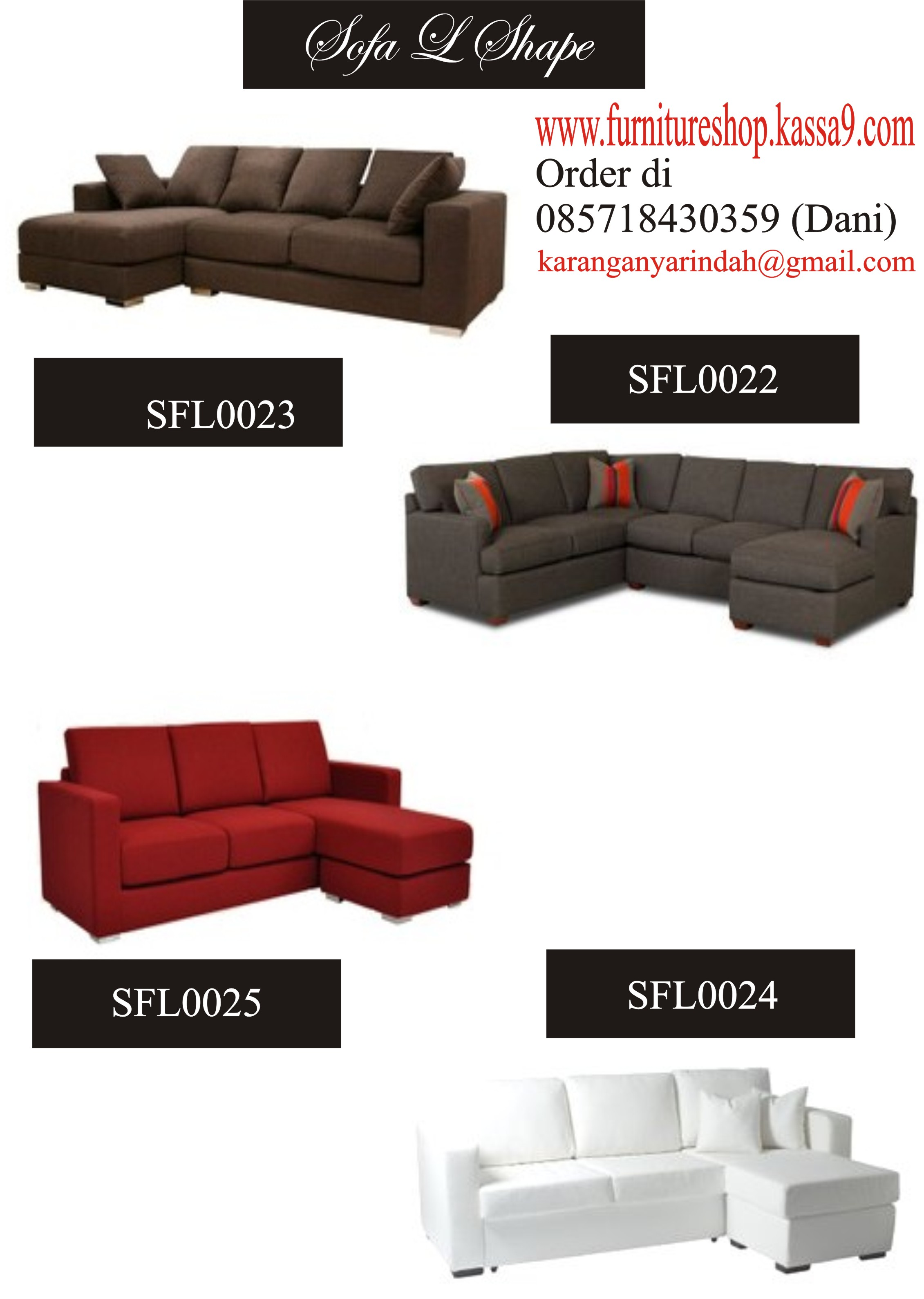 SFL3 SOFA L SHAPE 22 24