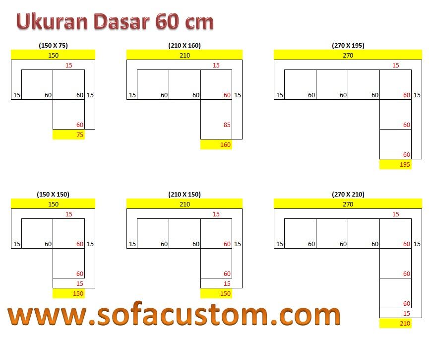 Ukuran 60 L Design Ukuran Sofa L