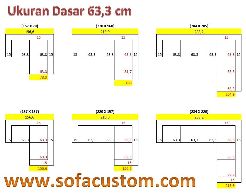 Ukuran 633 L Design Ukuran Sofa L