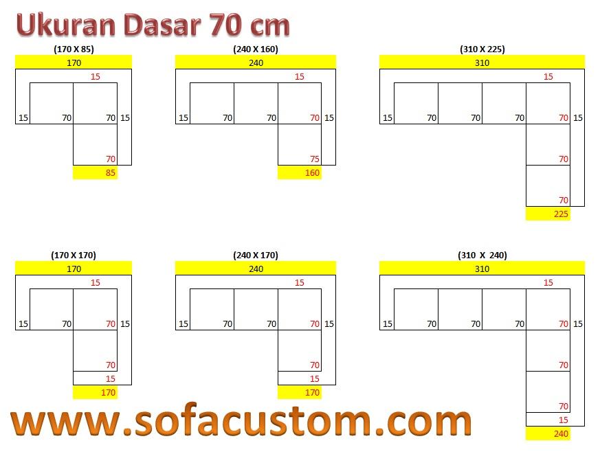 Ukuran 70 L Design Ukuran Sofa L