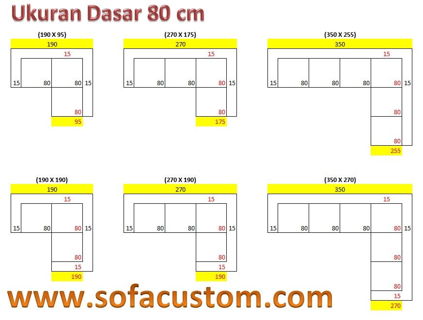 Ukuran 80 L Design Ukuran Sofa L