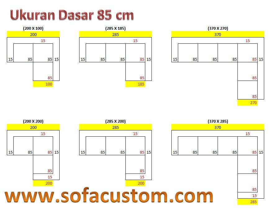Ukuran 85 L Design Ukuran Sofa L