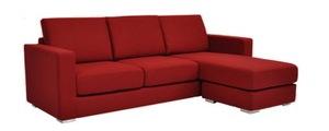 tb 36941 Paria Sectional Red Sofa L Valencia Ferrari Red (SFL00025)